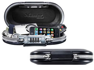 A small, portable safe, such as the 5900D SafeSpace, keeps gadgets and valuables secure and is easy fit in backpacks, gym bags or lock down to a fixed object while attending after school activities.