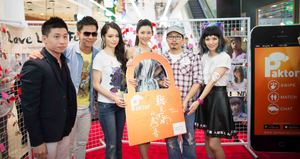 From left: Joseph  Phua, founder of Paktor, with the cast of Rhythm of the Rain, Alan Kuo, Vivian Hsu, Ginnie Han, Vincent Fang, Queen Wei