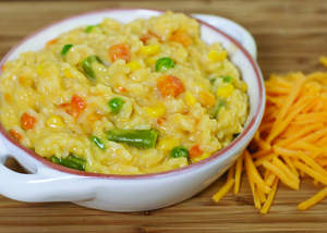 One Pot Easy Cheesy Vegetables & Rice