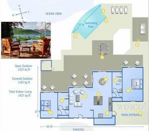Interactive digital floorplans for vacation rentals from WIMCO Villas