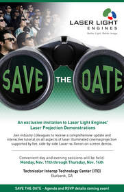 Save the Date:  Laser Projection Demonstrations