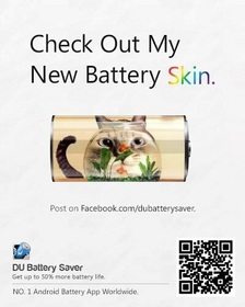 DU Battery Saver app makes battery saving fun - customize your battery icon skin, share with friends and win a smartphone!