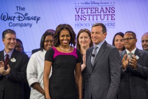 Disney World, resort, Walt Disney, parks, Veterans Institute, Heroes work Here, Michelle Obama, WDW