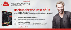 NovaBACKUP 15 Business Essentials - Backup for Servers with SQL, Exchange, VMware & Hyper-V