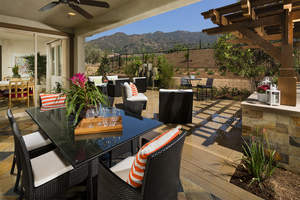 wisteria, outdoor living areas, rosedale, azusa new homes
