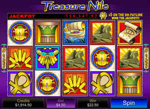 Treasure Nile won at All Slots Casino