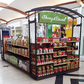 A Harry & David Holiday Kiosk.