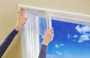With so many edges and gaps, windows are a prime spot for energy loss. Duck® brand Roll-On® Window Kits provide an added barrier between outside temperatures and your home, serving as a practically invisible way to conserve energy and decrease home heating costs.