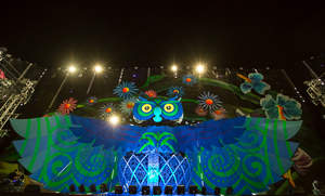 Insomniac's 40-foot-tall animatronic Owl, which debuted during EDC Las Vegas 2013, will make its first ever appearance on the East Coast for EDC New York in 2014. Photo credit: Insomniac/Erik Kabik/Retna.