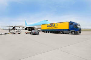 Dachser Intelligent Logistics truck and air plane