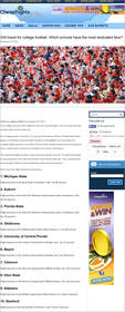 Cheapflights.com ranks the teams in the official BCS games, College football, bowl games