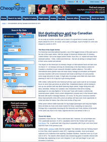Cheapflights.ca Hot Destinations and Top Canadian Travel Trends for 2014