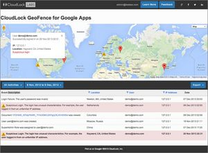 CloudLock GeoFence for Google Apps