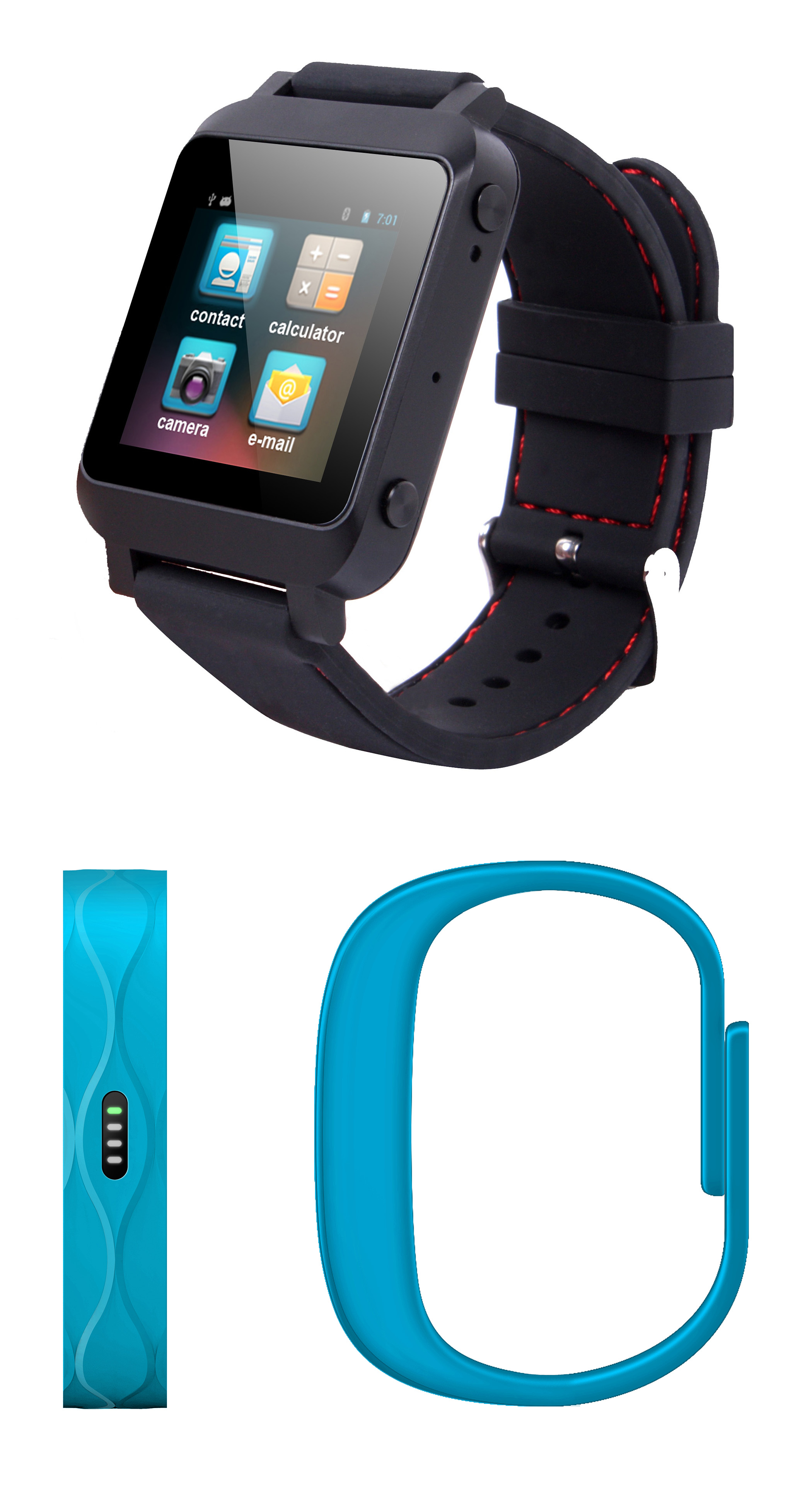 YiFang Digital NextONE smartwatch and wristband pedometer