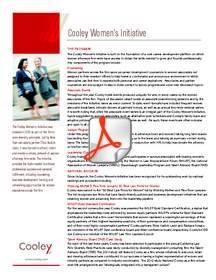 Cooley Women's Initiative