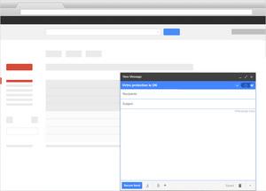 Virtru-on email message window.