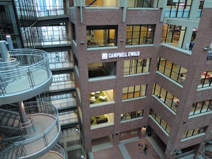 The new office of marketing communications agency Lowe Campbell Ewald located in downtown Detroit.