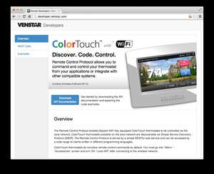 Venstar Announces New Built-in API for ColorTouch Thermostats, Enabling Third-party Application Integration