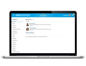 After a few keystrokes, more intelligent and predictive search yields results that are more contextual to a user's past behavior in Workday.