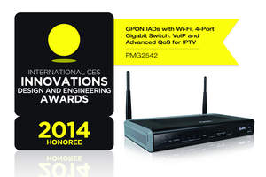 ZyXEL GPON Fiber Gateway Awarded CES Innovations 2014 Design and Engineering Honoree