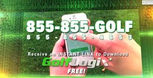 Screenshot from The World's #1 App for Golfers, GolfLogix, currently running on The Golf Channel.