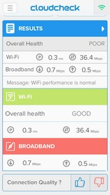 Cloudcheck relieves consumers from slow Internet speeds by identifying bottlenecks.