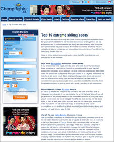 Cheapflights.ca Top 10 Extreme Skiing Spots,