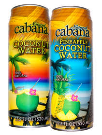 Pulse Beverage's Natural Cabana(R) Coconut Water and Pineapple Coconut Water