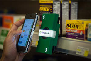 Shoppers browsing Austin's Tarrytown pharmacy can interact with the Shelfbucks beacon using their iPhone or Android smartphones and instantly receive real-time offers and coupons on nearby products via the retailer's app.