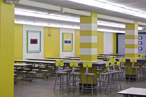 FrogTape Love for the Lunchroom Cafeteria Makeover Reveal