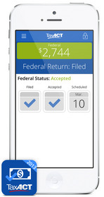 Tax Return Status by TaxACT gives latest status of e-filed tax returns & federal refunds