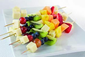 Rainbow Fruit & Cheese Kabobs