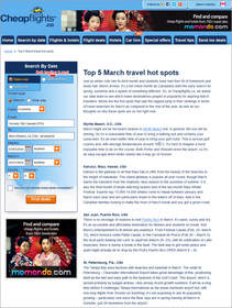 Cheapflights.ca Top 5 March Travel Hot Spots, March Break,Winter Break,Spring Break