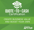 apttus announces first of its kind quote to cash certification program