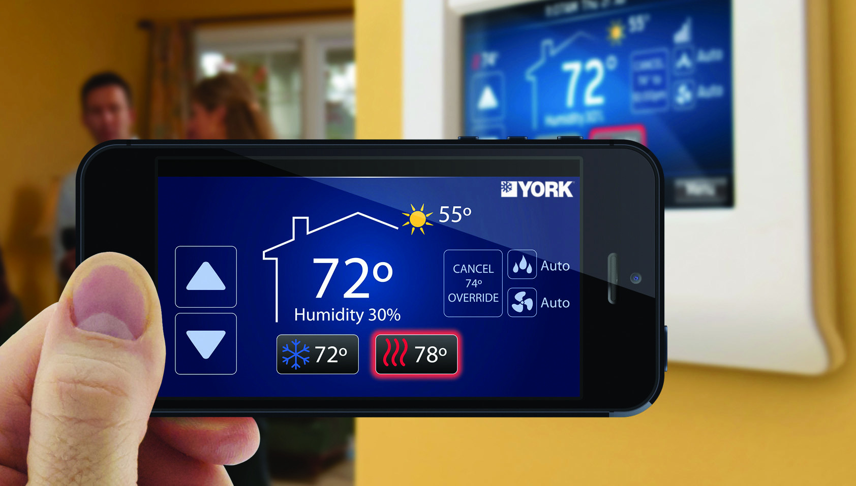 York Affinity Residential Communicating Control, York thermostat, smart thermostat