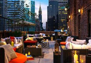 Rooftop bar in Midtown East