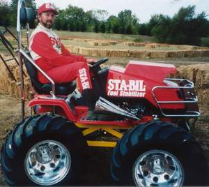 lawn mower, monster mower, uslmra, bobby cleveland, champion, jump, STA-BIL