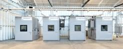 PVEL's environmental chambers are technologically advanced, fine-tuned machines -- they simulate a wide range of environmental conditions as they accelerate module aging.