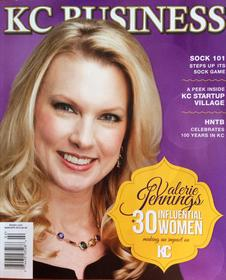 CEO Valerie Jennings makes cover of KC Business magazine March 2014.
