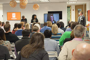 Kelly Griffin, Bre Jefferson and Vanessa Druskat discuss the future of collaboration at Revel HQ