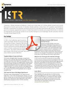Symantec ISTR Vol. 19 One Page Overview