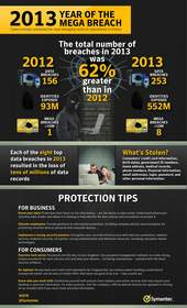 Symantec ISTR Vol. 19 Year of the Mega Breach Infographic