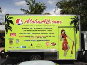 Aloha Air Conditioning Truck Wrap