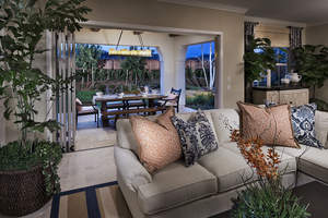 Indoor-outdoor living at Brookfield Residential's Palo Verde at The Foothills in Carlsbad