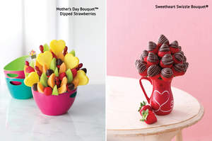 Mother's Day Bouquet(R) Dipped Strawberries & Sweetheart Swizzle Bouquet(R)