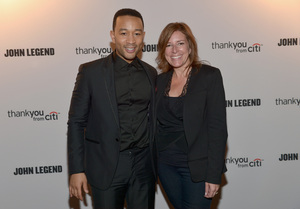 Recording artist John Legend and SVP Entertainment Marketing, Citi, Jennifer Breithaupt attend Citi presents exclusive John Legend concert for Citi ThankYou Cardmembers at The Emerson Theatre benefitting Teach for America on April 21, 2014 in Los Angeles, CA