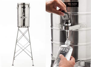 Fred Further Disrupts the Bottled Water Category with Launch of Miniature Water Towers Filled With Tap