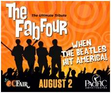 OC Fair Announces Performances by The Fab Four in the 2014 Toyota Summer Concert Series at the Pacific Amphitheatre Plus More Shows in The Hangar