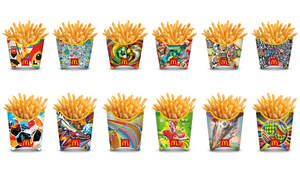 In celebration of the 2014 FIFA World Cup™, McDonald's unveils 12 French fry boxes designed by artists from around the world that reveal an Augmented Reality trick-shot challenge.