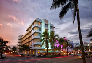 Boutique hotels on Ocean Drive